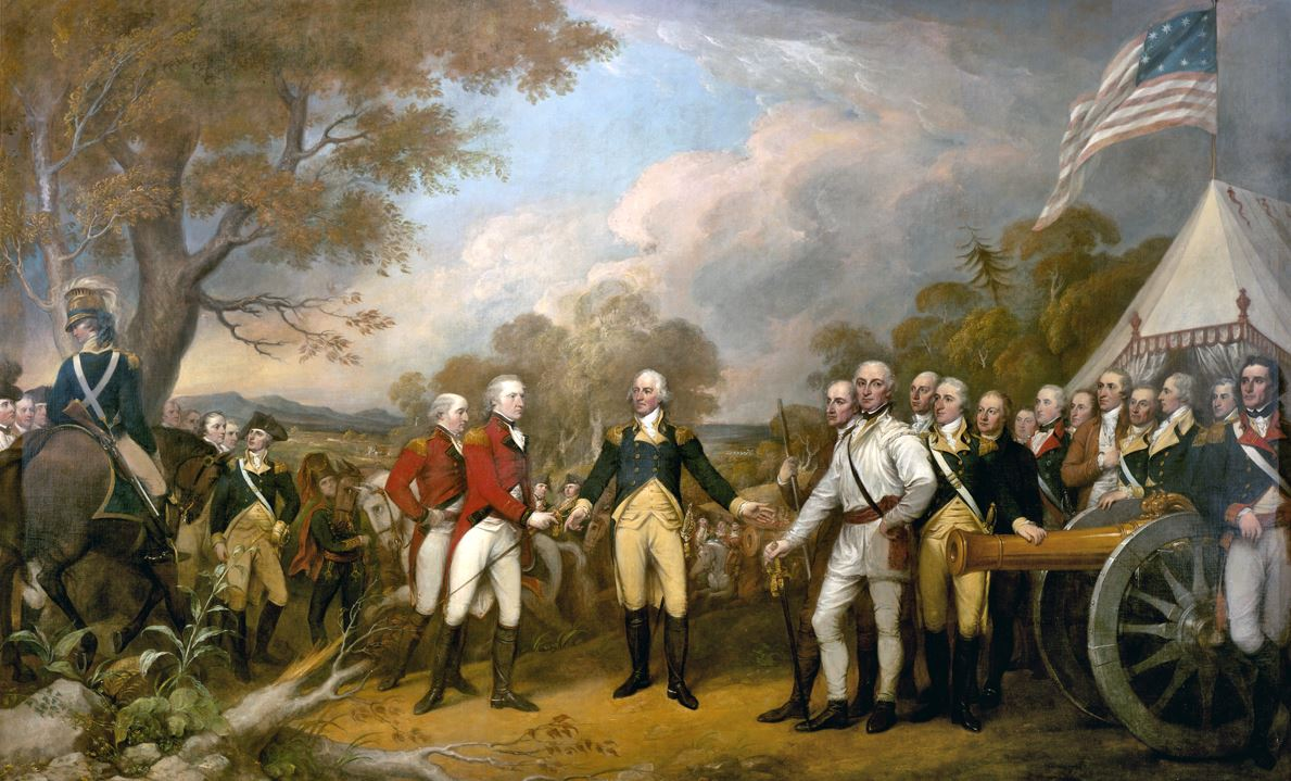 Surrender of General Burgoyne, by John Trumbull (1822)